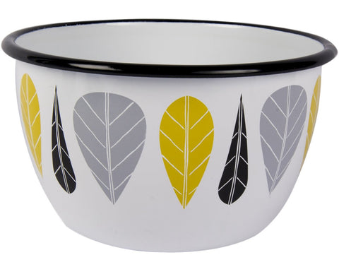 Leaves Enamel Bowl