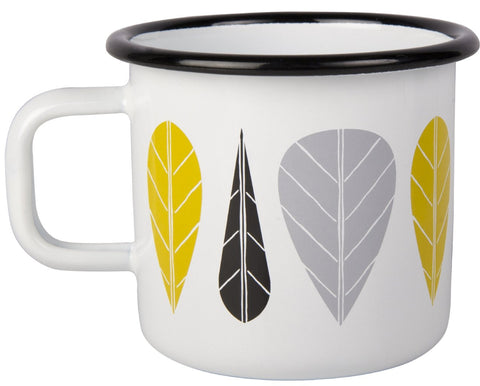 Leaves Enamel Mug