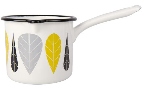 Leaves Enamel Saucepan