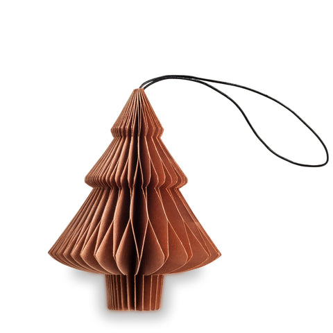 Tree Shaped Paper Decoration (Copper)