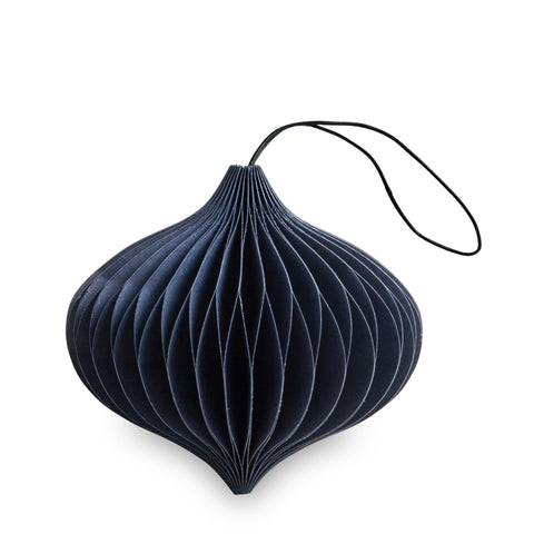 Onion Shaped Paper Decoration (Midnight Blue)