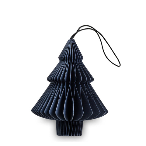 Tree Shaped Paper Decoration (Midnight Blue)