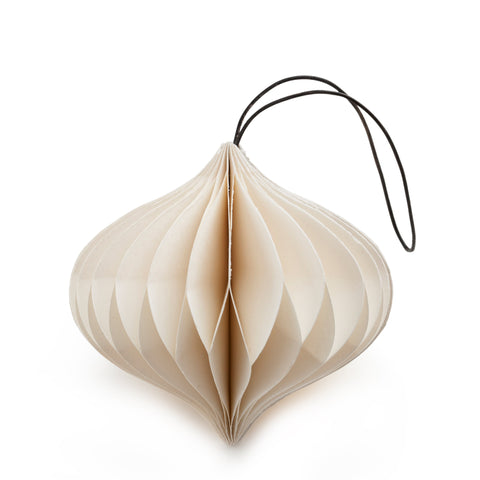 Onion Shaped Paper Decoration (White)