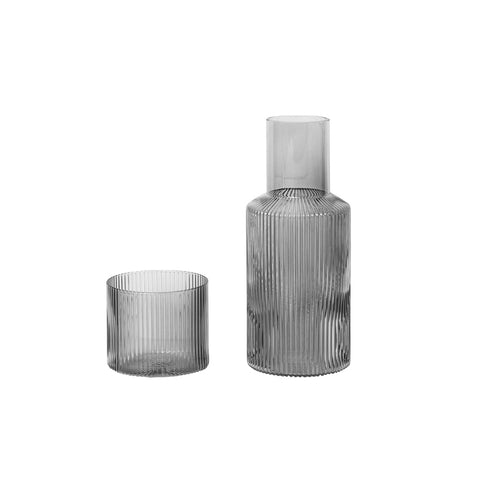 Ripple Carafe Set | Smoked Grey