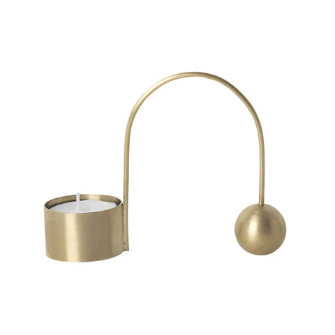 Brass Balance Tealight Holder