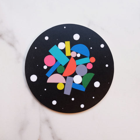 Black Pizza Puzzle Coaster