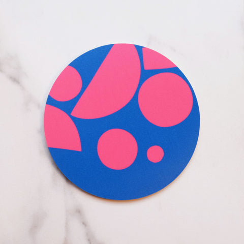 Blue Pink Puzzle Coaster