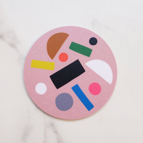 Pink Pizza Puzzle Coaster