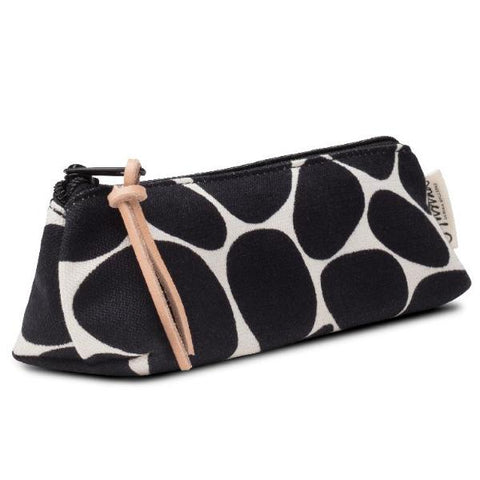 STENAR pencil case - black on white