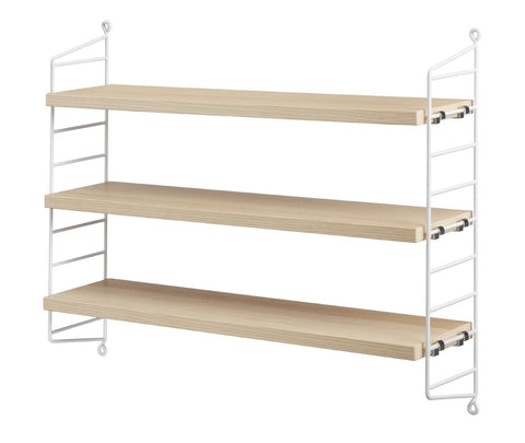 White/Ash String Pocket Shelves