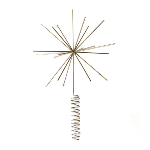 Twinkle Christmas Tree Topper (Brass)