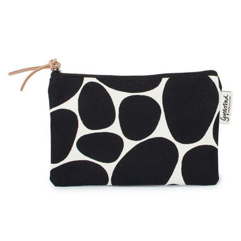 STENAR makeup purse - black on white