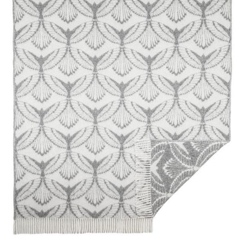 Wings blanket, grey