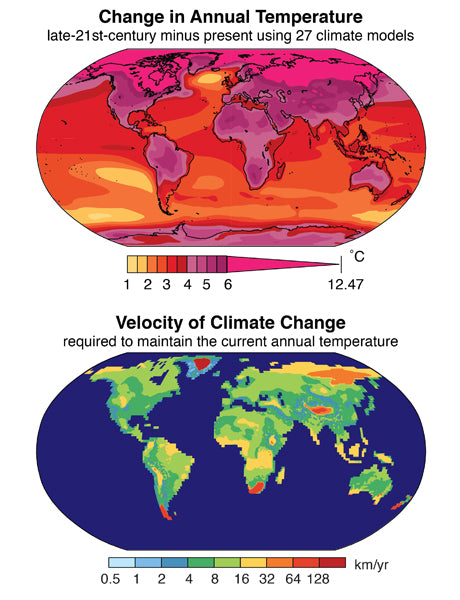 A global heat map shpwing climate change