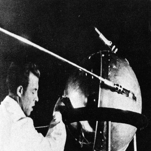 The Russian satellite Sputnik in 1957