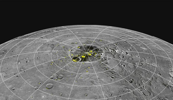 The Messenger space craft confirmed ice deposits on the north pole of Mercury hidden in darkness