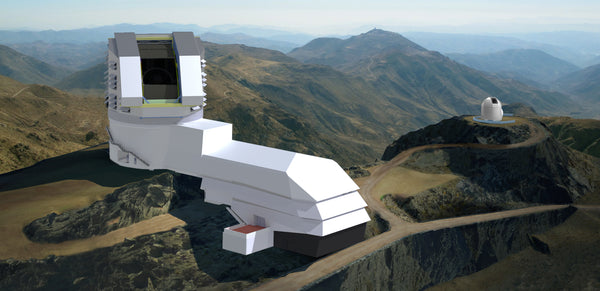 The Large Synoptic Survey Telescope within the mountains of Chile