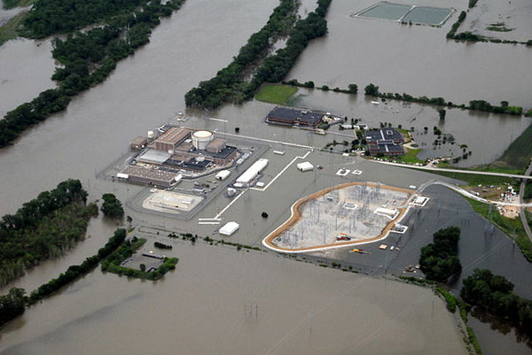 Climate change flooding woul destroy power plant cooling systems