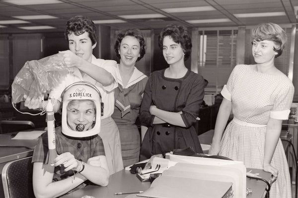 Women in the 1960s passed the same physical astronaut tests as men.