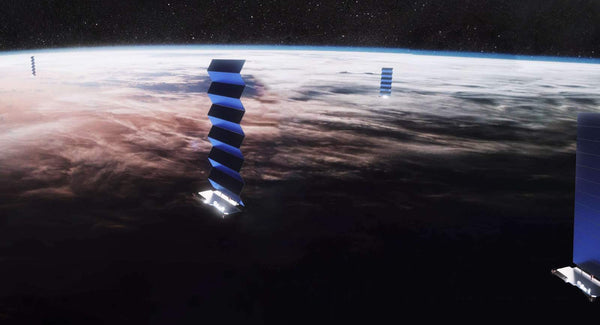 Starlink satellites have a relective coating that keeps them cool, but reflects light