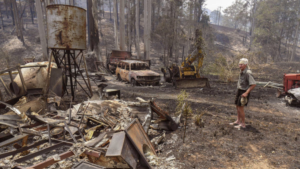 The Australian bushfires destroyed many homes of low income people.