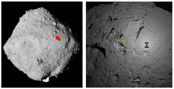 Hayabusa touched down on Ryugu to collect samples which are returning to Earth