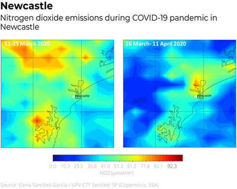 Newcastles nitrogen dioxide emissions have increased by 20%