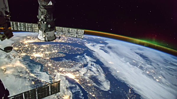 The international soace station or ISS in the lower atmosphere