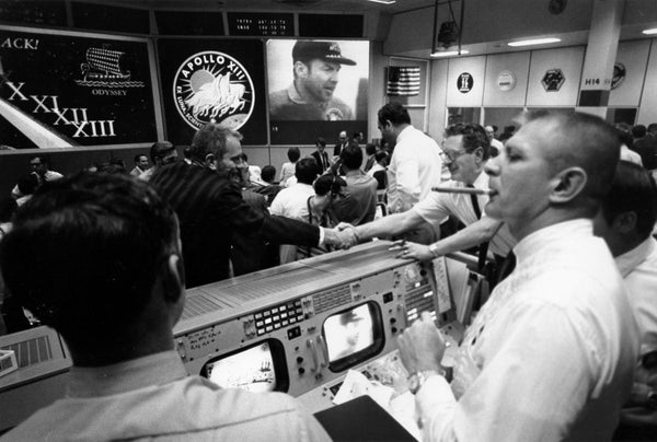 No one at Mission Control lost their temper as shown in the film.