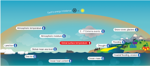 The mechanism of greenhouse gases warming Earth's oceans