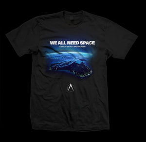 We All Need Space Tee - Black