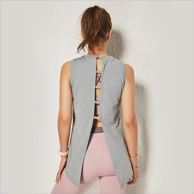 Open Back Yoga Top Tanks - Arhametics