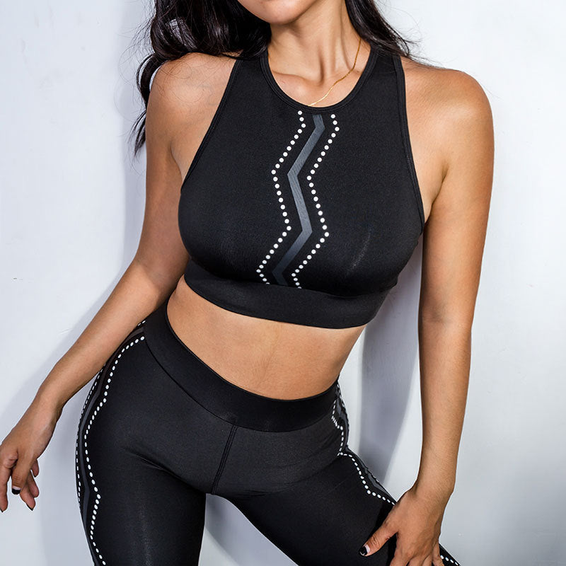 Patchwork Running Sportswear Yoga Sets - Arhametics