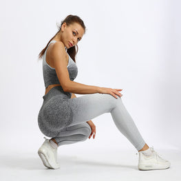 Print High waist fitness suit Yoga Sets - Arhametics