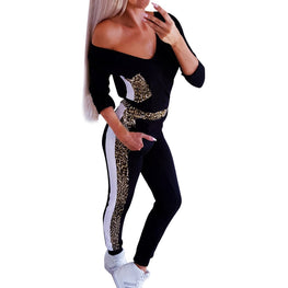 Leopard Print Sports Tracksuits Yoga Sets - Arhametics