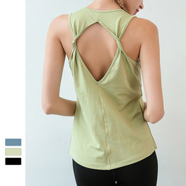 Solid Beauty Back Yoga Tank