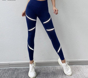 Mesh Reflective Athletic Yoga Leggings Leggings - Arhametics