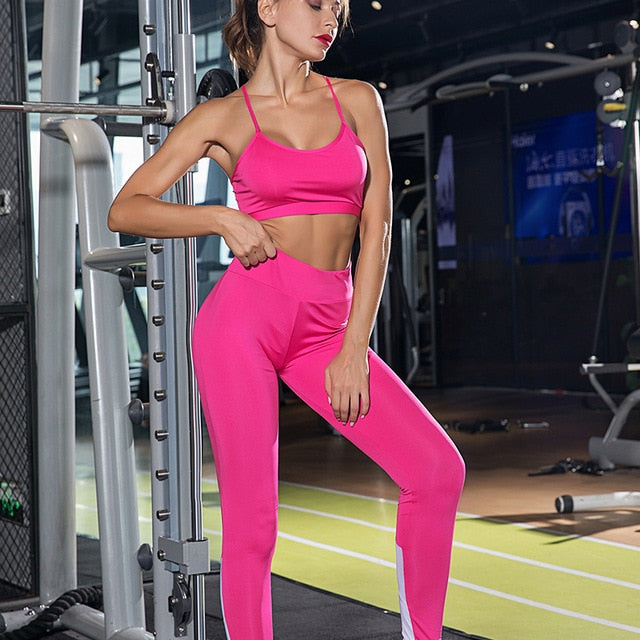 Mesh Athletic Solid Sports Suit Yoga Sets - Arhametics