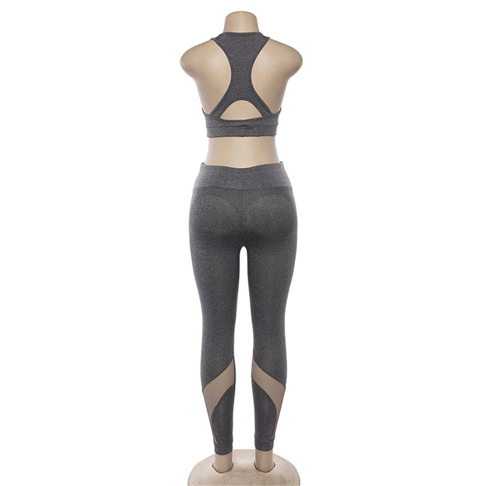 Solid Hollow Out Breathable Yoga Sets Yoga Sets - Arhametics