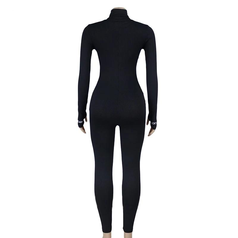 Zipper Long Sleeve Yoga Jumpsuit One Pieces - Arhametics