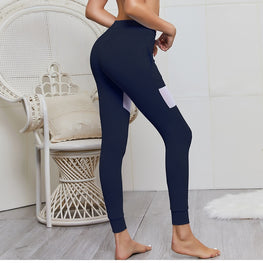 Pockets Mesh Yoga Leggings Leggings - Arhametics