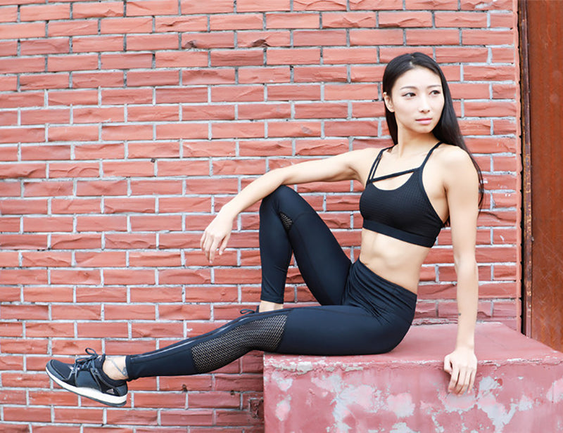 Elastic Mesh-Morized Legging Leggings - Arhametics