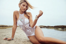 High Neck Crochet swimsuit