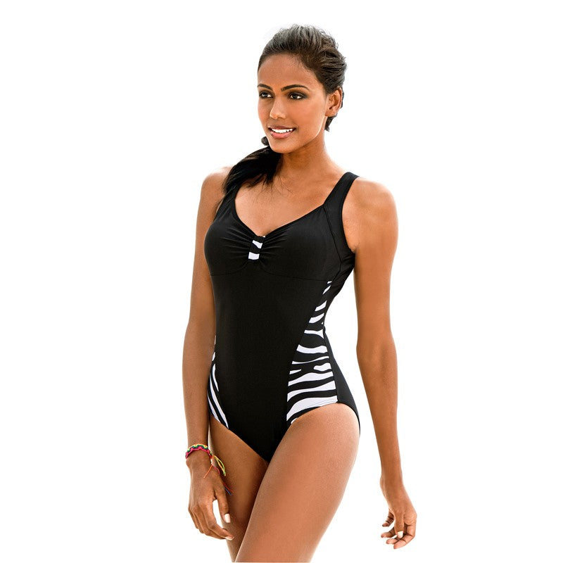 Stripe One Piece Swimsuit Swimsuit - Arhametics