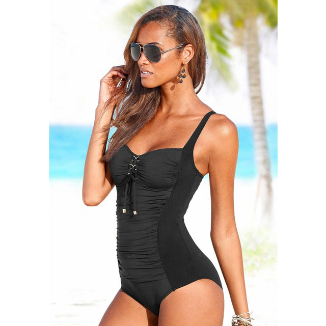 Vintage Monokini One piece Swim Suit Swimsuit - Arhametics