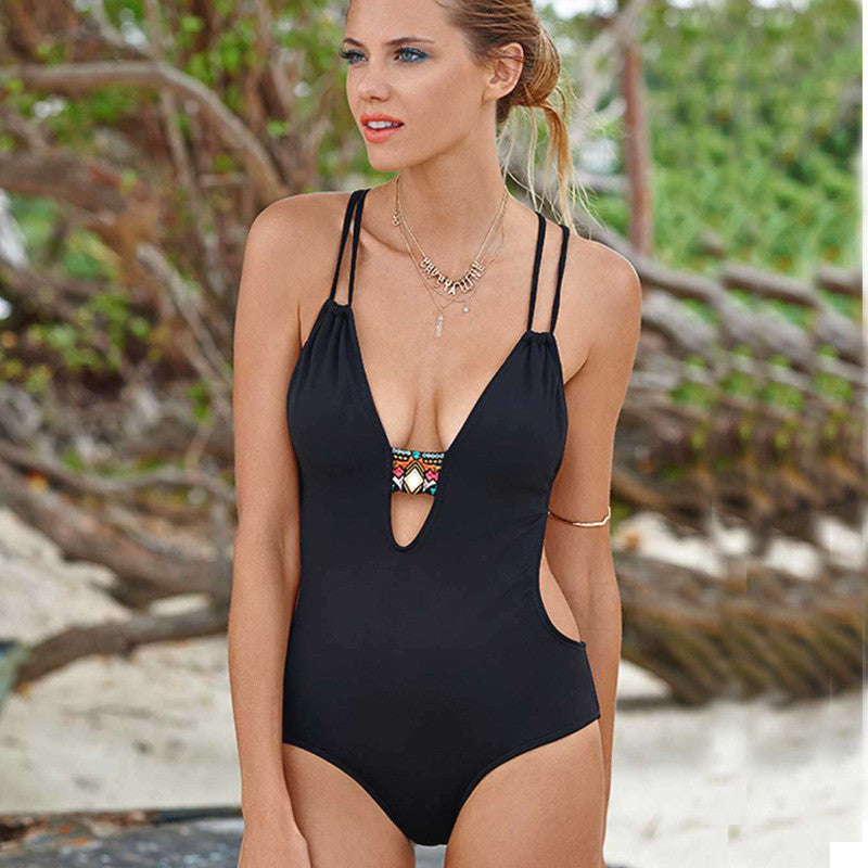 High Cut Bandage One Piece Swimsuits Swimsuit - Arhametics