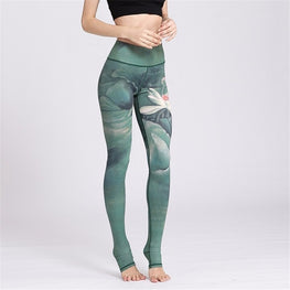 Ink Printed Professional Fitness Workout Yoga Leggings Leggings - Arhametics