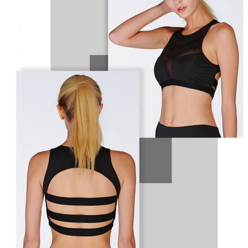 Front Mesh Absorb Sweat Fitness Bra Bras - Arhametics