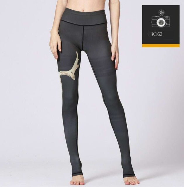 High Waist Printed Yoga Pants Leggings - Arhametics