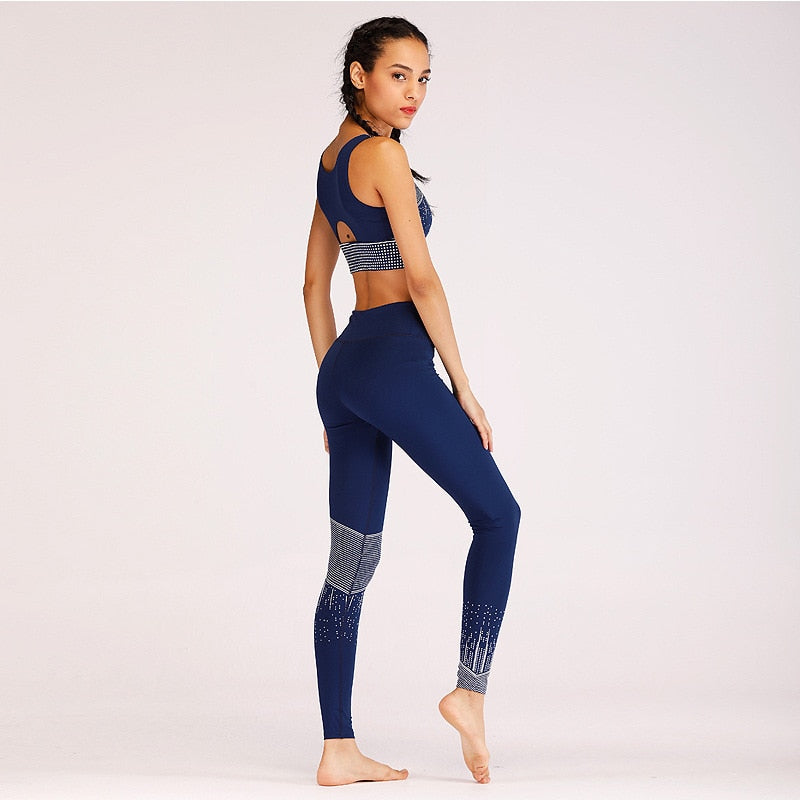 Printing Women Tracksuits Bra Leggings Running Jogging Suits Sweat Pants Sportswear Yoga Set Yoga Sets - Arhametics